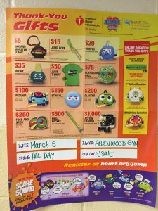 Jump rope for heart prizes to win